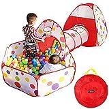 Yosoo Tenda Bambini 3 in 1 Tunnel da Gioco, Indoor / Outdoor Tunnel gioco e Play Tent,Tenda Giocattolo Tunnel Bambino Ball Pool