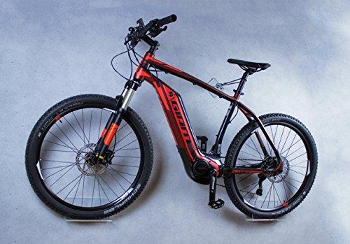 Preisvergleich Produktbild trelixx Fahrrad Wandhalter Lixx E-Bike, gelasert - Design Fahrrad-Wandhalter aus Plexiglas, zugelassen für schwerere Räder und E-Bikes - Wandmontage