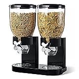 Kabalo Schwarz Getreidedoppelspender Maschine Frühstück Lebensmittel Vorratsbehälter Küche Snack Kanister