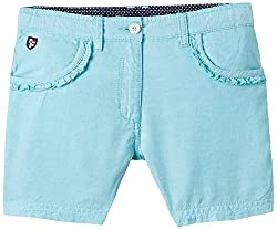 US Polo Association Girls Shorts (UGST5025_Lt. Blue_4 - 5 years)