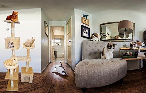 Pets Empire Cat Activity Tree Multi-level Cat Tower Condo Furniture...