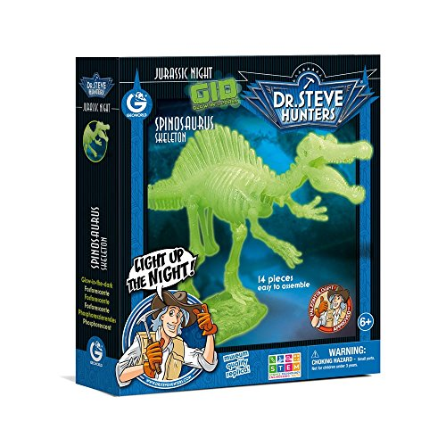 Dr. Steve Hunters cl1655K–Spiel Jurassic Night Glow in the Dark Spinosaurus (Hunter Nite)