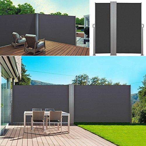 ProBache-Paravento per esterni pieghevole, 600 x 160 cm, doppio ...
