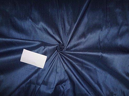 100% Pure Seide Dupionseide Stoff Cloudy blau x schwarz 137,2cm -