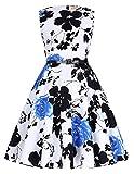 Kids Round Neck Floral Vintage Party Dresses 10# 8-9yrs