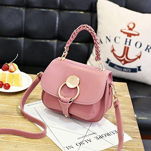 Weibliche Beiläufige Handtasche Reine Farbe Schulterdiagonalpaket Gummipulver