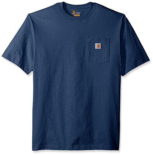 Carhartt Herren Workwear Pocket Short Sleeve T-Shirt, Dunkelkobaltblau Heather, XXX-Large Hoch -