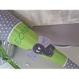 #173 Elefant grün-grau Schultüte