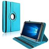 NAUC Tablet Hülle f Blaupunkt Atlantis Discovery 1001A Tasche Schutzhülle Case Cover, Farben:Türkis