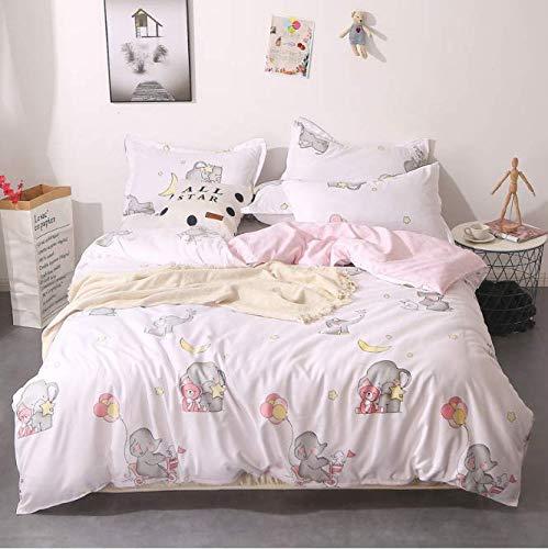 SHJIA Tröster Bettwäsche-Sets Königin Bettbezug Set Blumen Bettwäsche-Set Weiß 150x200cm -
