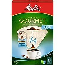 Melitta, 80 Filtres à Café, Taille 1x4, Pour Cafetière à Filtre, Gourmet Doux, Blanc