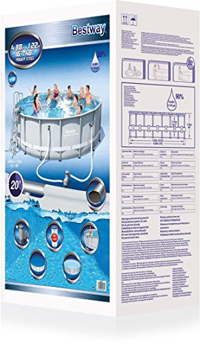 Bestway Frame Pool Power Steel Set 488x122 cm -