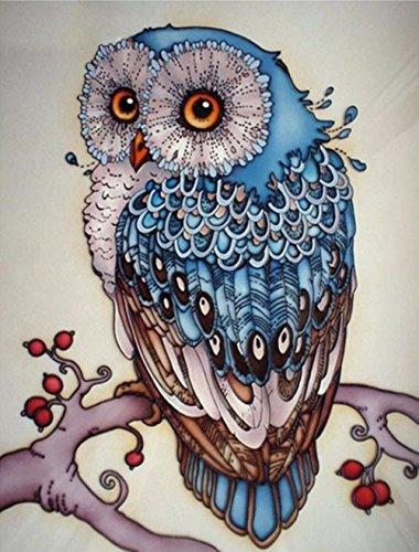 3D-Perlen-Malset, Kunst mit Ziersteinen zum Selbermachen, 3D-Stickerei, Basteln für Zuhause, Wand-Dekoration, eule, 7.87\'\'x9.84\'\' Reading Cat