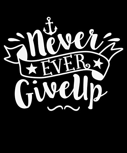 ::: NEVER EVER GIVE UP ::: Boys T-Shirt Schwarz
