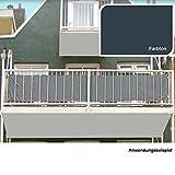 Pro Garden Balkon Sichtschutz 76x445cm Schwarzgrün Windschutz Windfang Balkonsichtschutz