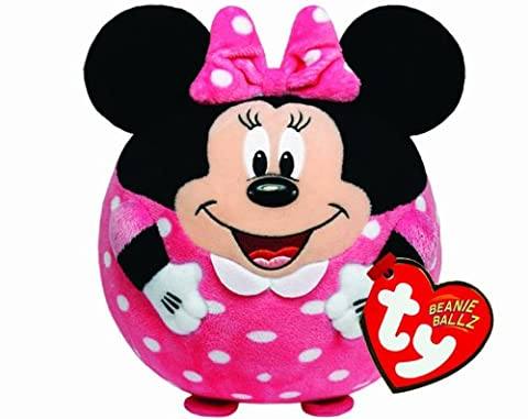 TY 58102 - Disney Ball - Minnie Beanie Ballz mit Soundchip, Plüsch, Durchmesser 12 cm