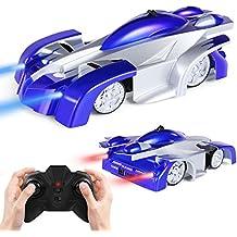 SGILE 4CH Auto da Corsa Telecomandata RC Arrampicabile sulla Parete Scalatore Rocket Toy Car Racer Blu