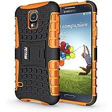 Funda Galaxy S5, S5 Neo Funda , Fetrim Proteccion Cáscara Cases delgada de golpes Doble Capa de Tough Armor Anti-Shock de soporte de Protectora para Samsung Galaxy S5/S5 Neo (naranja)