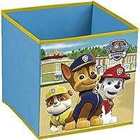 Paw Patrol La Patrulla Canina - Cubo contenedor Chase, Marshall y Rubble. Pongotodo guarda juguetes