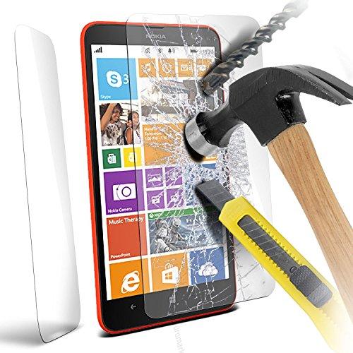 Fonetic Solutions Premium-Hartglas Displayschutz Glas Crystal Clear Schutzfolie Schutz Folie Abdeckung Schutz für Nokia Lumia 1320