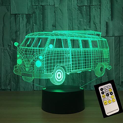 Schulbus Fernbedienung oder Touch Control line batteriebetriebene Lampe kreative Lichtfarbe nachtlicht Dekoration