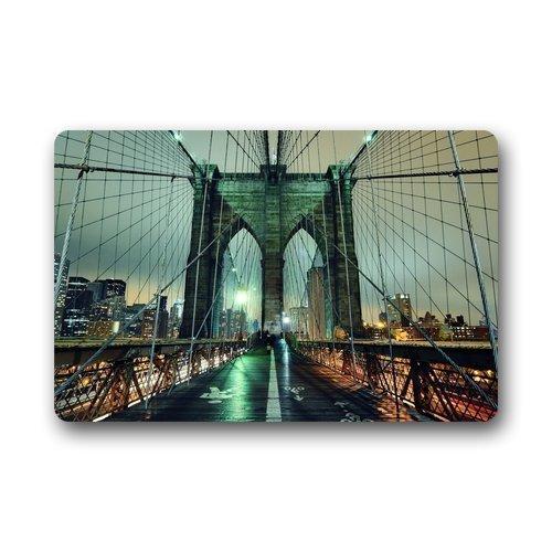 Decor Carpets ? Door Mats New York City Manhattan Brooklyn Bridge Doormats Top Fabric & Rubber Indoor Outdoor s Area Rugs Entryway Mats 23.6in by 15.7 in ()