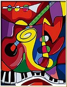 PaintingStudio Picasso instrument de musique peinture abstraite bricolage image d'huile