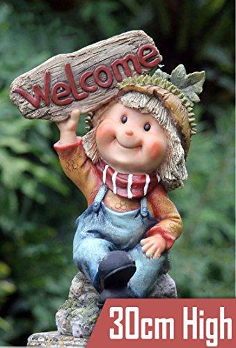 Figura de gnomo para jardín, hecha a mano, resina, para decorar el...