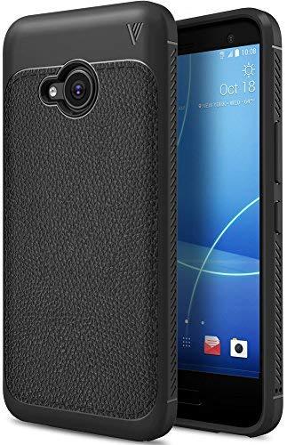 HTC U11 Life Hülle, KuGi Slim Weiches Stoßsicheres Gehäuse mit Spezial-Hexagon Texture Schutzhülle Soft Hüllen Handyhülle für HTC U11 Life Smartphone (Schwarz)