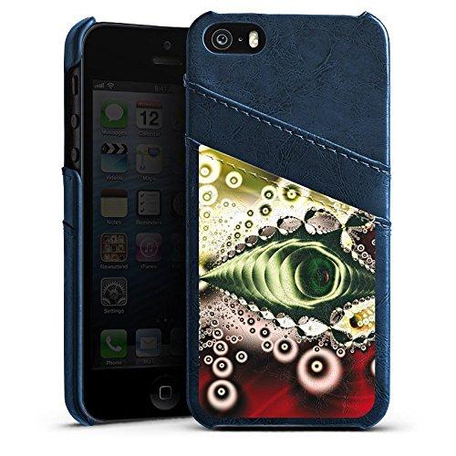 Apple iPhone 4 Housse Étui Silicone Coque Protection Motif Motif Vintage Rétro Collection Étui en cuir bleu marine