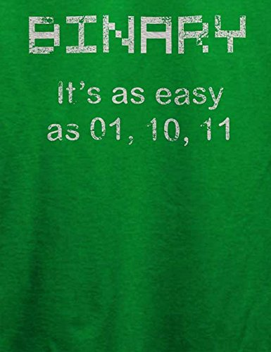 Binary Its Easy As 01 10 11 Vintage T-Shirt Grün