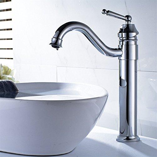 Good quality Antiquitäten Becken Spül Mischer Tap Kupfer verchromt Bad WC Wasserhahn Waschbecken Wasserhahn Ellenbogen Steckdose Becken heißen und kalten Wasser Mixer