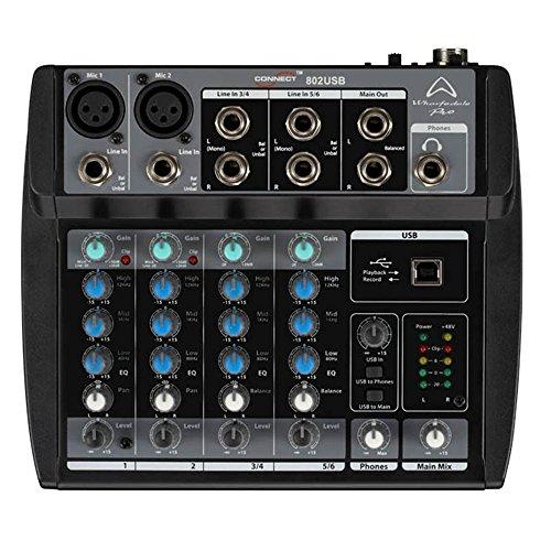 Wharfedale Pro Connect 802 USB Mixer Professionale a 6 Canali per karaoke, studio, live, ecc.. - Pro 1 Usb