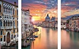Eurographics AKT-DG-DT70089SET Grand Canal in Venice 30x80/60x80 DecoGlass Aktion, Glas, Bunt, 80, 00 x 80, 00 cm