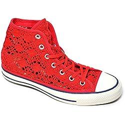 Converse Zapatillas Abotinadas All Star Hi Rojo EU 36.5