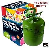 FX DISTRIBUTION Bouteille d'Hélium 0,42m3 à 15€ ! + 50 Ballons Offerts - Livraison 24/48h !