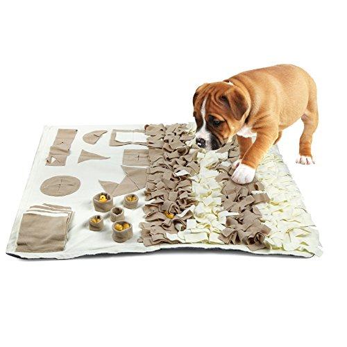 Schnüffelteppich Hunde, Hund Riechen Trainieren, Geruchsempfindung Trainieren Matte, Schadstofffreies Hundespielzeug Fördert Natürliche Nahrungssuche, Spielen Matte Toy Nase Arbeit für Haustier