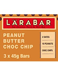 LÄRABAR Peanut Butter Choc Chip Fruit and Nut Bar, 3 x 45 g