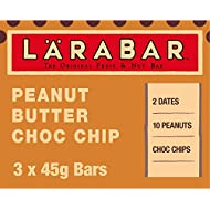 LÄRABAR Peanut Butter Choc Chip Fruit and Nut Bar, 3 x 45 g