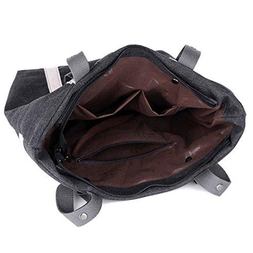 Frauen Segeltuchtasche Handtasche Schultertasche Mit Großer Kapazität Student Tasche Grey