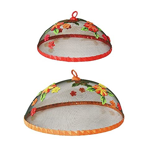Floral Food Covers Set of 2