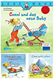 Conni Bundle 3 – Conni Bücher Set - Conni und das neue Baby Lesemaus - Conni geht zum Zahnarzt - Conni geht Zelten – PIXI Bücher