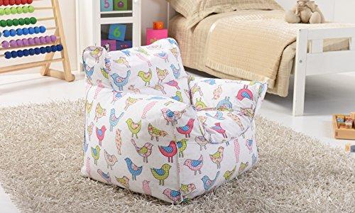 Lancashire-Textiles-Kinder-Mini-SitzsckeSthle-mit-abnehmbarem-Bezug-fr-Jungen-und-Mdchen