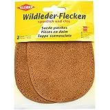 Kleiber - Parches de piel de ante, ovalados, 12 x 10 cm, 1 par, color marrón