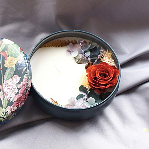MXJ Duftende Soja Wachskerze Natürliche Blume Beauty Light Candle Decoration Dekorative Kerzen Bougie Parfum Maison Candles JarTango Dance -
