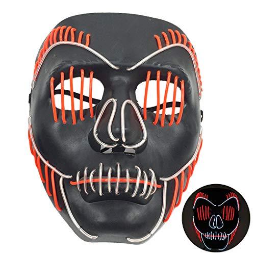 Halloween Maske Kreative EL Draht LED Leuchten Scary Party Maske Kostüm Maske