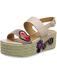 Womens San.Lod./70 Laminato ARGE+Plat Sling Back Sandals Love Moschino