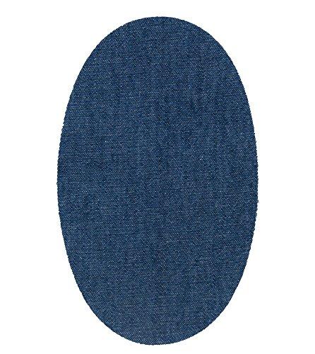 Haberdashery Online 4 rodilleras tejano medio termoadhesivas de plancha. Coderas para proteger tu ropa y reparación de pantalones, chaquetas, jerseys, camisas. 16 x 10 cm. Ref. 21 Tejano medio