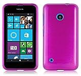 Nokia Lumia 530 Silikon-Hülle in PINK von Cadorabo - TPU