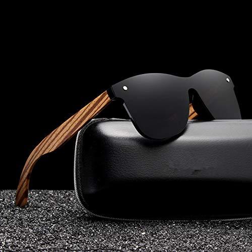 SLONGK Neue Retro Holz Sonnenbrillen Herren Bambus Sonnenbrillen Design Sonnenbrillen Optische Rahmen Flachglas Gläser